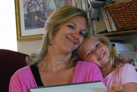 Sarah and her mama