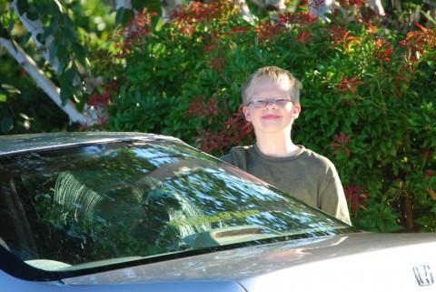 Daniel washing my car