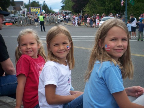 girls waiting for candy
