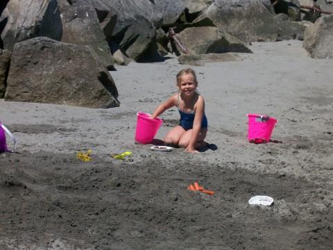 We found some sand