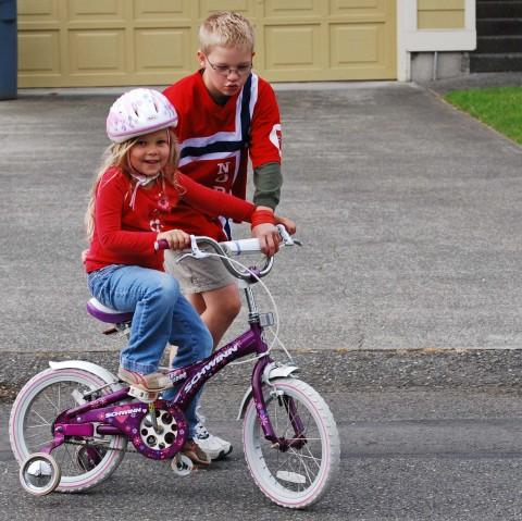 sarah's new bike