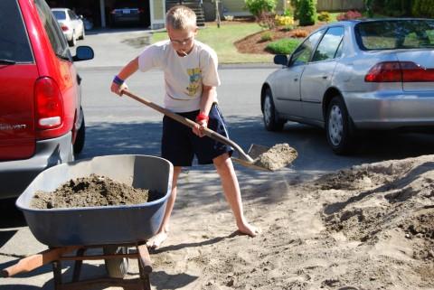 Daniel the Barefoot Shoveler