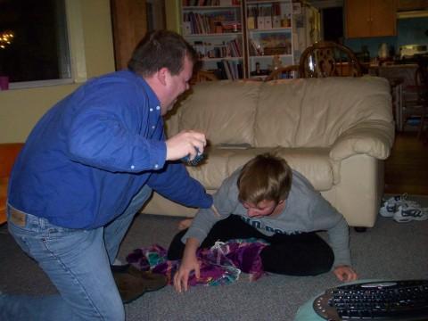 wrestling down