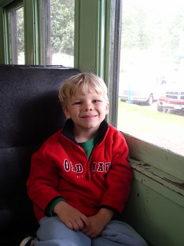 David on the train