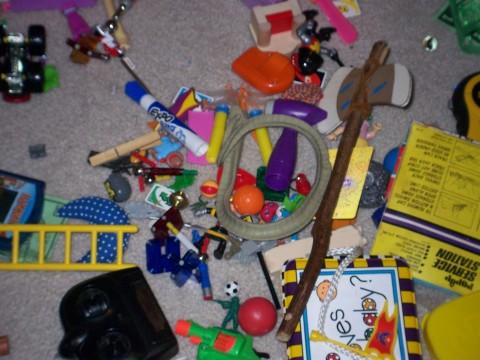 jumble of toys