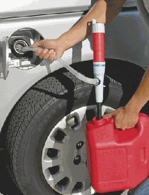 Battery-powered gas siphon