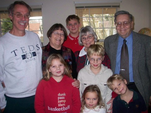 both grandparents and all the kiddos