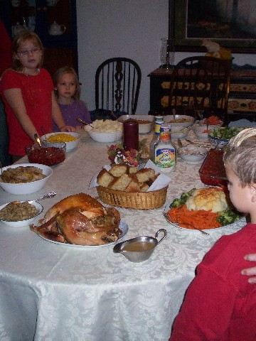 Preparing to enjoy the feast
