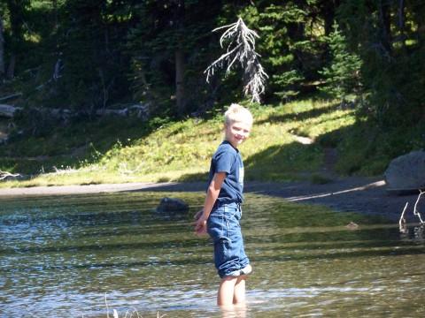 No piranhas in this lake ... ?
