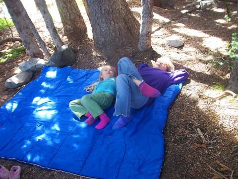 sleeping bag - no tent