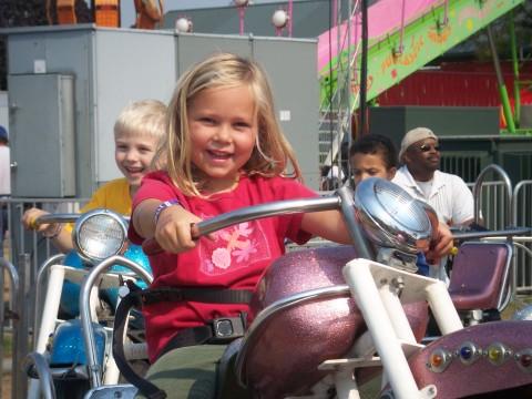 sarah rides her bike