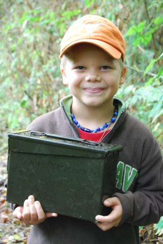Geocaching boy