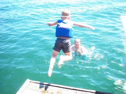 David jumping