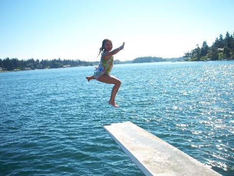 Rachel jumps
