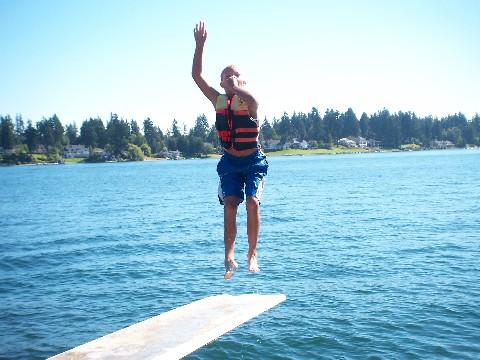 Daniel jumps
